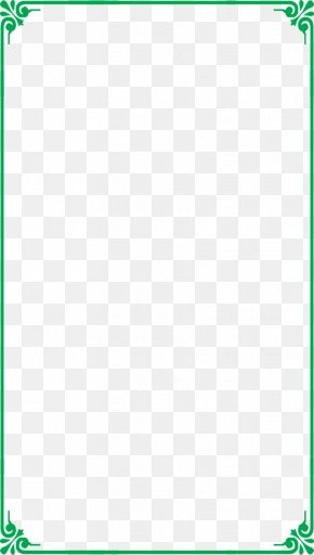 Green Clear Pattern Border Frame - Picture Frame PNG