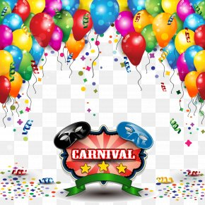 Happy Birthday - Carnival Party Illustration PNG