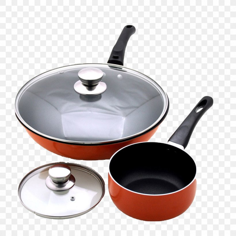 Frying Pan Wok Non-stick Surface Cookware And Bakeware Tableware, PNG, 1000x1000px, Frying Pan, Cast Iron, Castiron Cookware, Cookware Accessory, Cookware And Bakeware Download Free