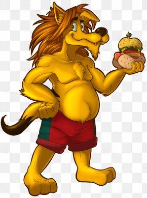 IT Trade Fair Poster - Lion Clip Art Illustration Cat Legendary Creature PNG