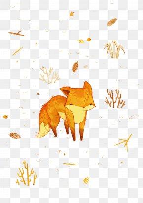Vector Autumn Fox - Drawing Illustrator Graphic Design Painting Illustration PNG