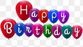 Happy Birthday Balloons Clip Art - Clip Art PNG