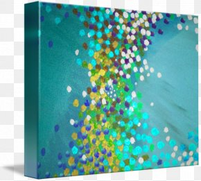 Gallery Wrap Canvas Art Turquoise Printmaking PNG