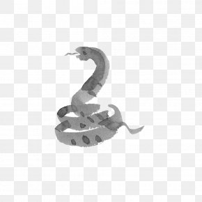 Chinese Zodiac Snake Wind - Snake Chinese Zodiac Ink Wash Painting Drawing Ox PNG