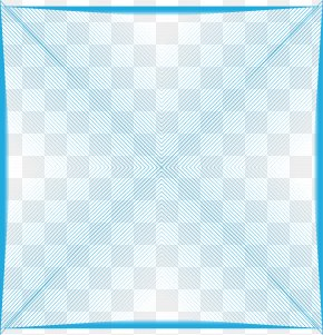 Blue Geometric Abstract Stripes Pattern - Symmetry Area Pattern PNG