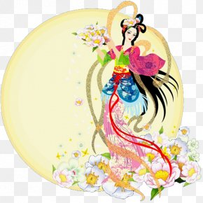 China - China Mid-Autumn Festival Chang'e 嫦娥奔月 PNG