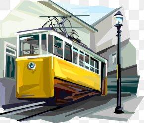 Art Portugal Tram - Trolley Vector Graphics Clip Art Illustration Image PNG