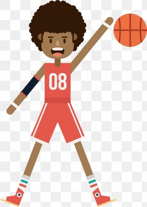 Basketball Vector - Basketball Player Athlete Basketball Court PNG