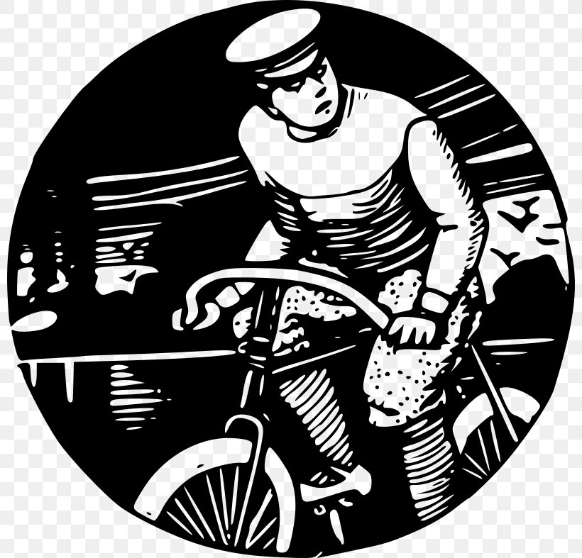 Bicycle Drawing Clip Art, PNG, 800x787px, Bicycle, Art, Black And White, Cartoon, Cycling Download Free
