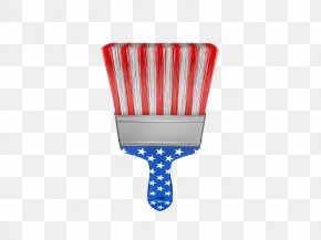 American Flag Brush Material - Flag Of The United States Independence Day Paintbrush PNG
