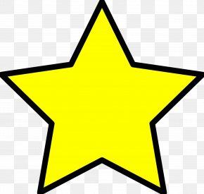 Xmas Star Cliparts - Yellow Badge Star Clip Art PNG