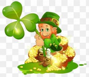 Pot Of Gold - Saint Patrick's Day Leprechaun Shamrock Lettering Clip Art PNG