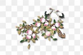 Peach - Xiantao Longevity Peach Saturn Peach Crane PNG