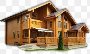 House - Log Cabin House Home Building PNG