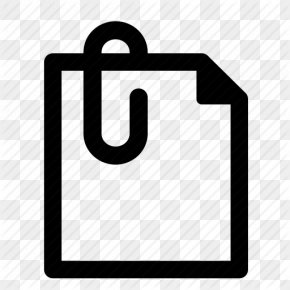Icon Paper Clip Transparent - Email Attachment Computer File PNG