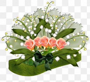 Lily Of The Valley - Garden Roses Lily Of The Valley Flower Floral Design Composition Florale PNG