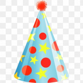 Birthday Hat Stick - Party Hat Birthday Clip Art PNG