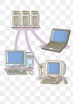 Hand Drawn Computer - Computer Network Computer Servers Photography Illustration PNG
