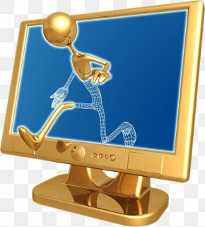 Who Escaped The Monitor - 3D Computer Graphics Animation Clip Art PNG
