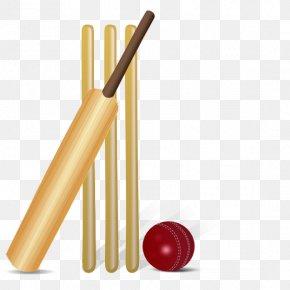 Cartoon Cricket Bat - Cricket Umpire Batting Clip Art PNG