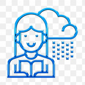 Line Art Weather Icon - Announcer Icon Broadcaster Icon Newscaster Icon PNG