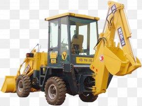 Large Car - Bulldozer Machine Yellow Wheel Tractor-scraper Motor Vehicle PNG