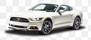 White Ford Mustang GT Fastback Car - 2015 Ford Mustang GT 50 Years Limited Edition Car Ford GT California Special Mustang PNG