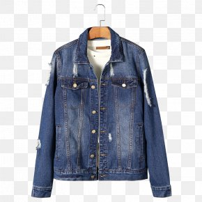 Cave Washed Denim Jacket - Denim Jacket Textile Cowboy PNG