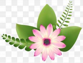 Pink Flower Clip-Art Image - Flower Art Clip Art PNG