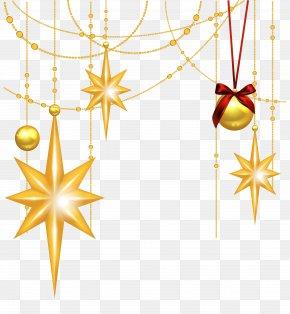 Xmas Star Cliparts - Star Of Bethlehem Christmas Ornament Clip Art PNG