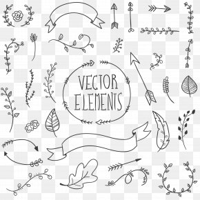Painted Black Bohemian Element - Drawing Euclidean Vector Hand PNG