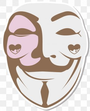 V For Vendetta - V For Vendetta Guy Fawkes Mask Stencil Drawing PNG