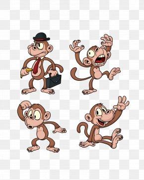 Animal Little Monkey - Ape The Evil Monkey Chimpanzee Cartoon PNG