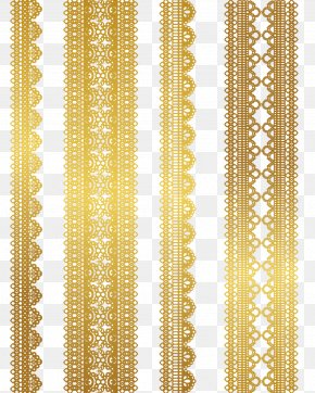Gold Lace Pattern Vector Material - Lace Gold Euclidean Vector Textile PNG