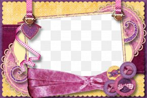 Cloth Button Frame - Picture Frame Petal PNG
