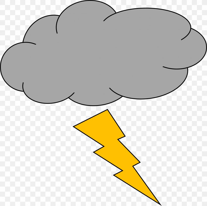 Thunderstorm Lightning Cloud Clip Art, PNG, 2408x2400px, Thunder, Area, Beak, Black And White, Cloud Download Free