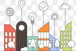 Visual Communication Building City - Communication Smart City Information Illustration PNG