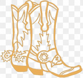 Boot - Colouring Pages Coloring Book Cowboy Boot PNG
