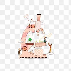 The Characters On The Microscope - Microscope Resource Technology Marketing PNG