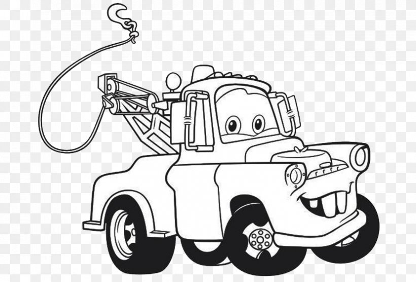Lightning McQueen Mater Drawing Cars Coloring Book, PNG ...