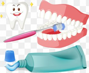 Brushing Teeth And Vector - Tooth Brushing Toothbrush Illustration PNG