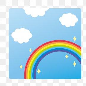 Rainbow - Rainbow Blue Sky Area Wallpaper PNG