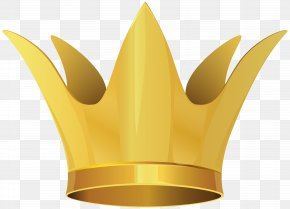Crown Clip Art Image - Yellow Graphics Material Design PNG