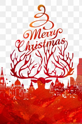 Merry Christmas Theme Poster - Christmas Card New Year Christmas Eve Holiday Greetings PNG