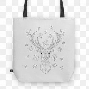 Reindeer - Tote Bag Reindeer White Antler PNG