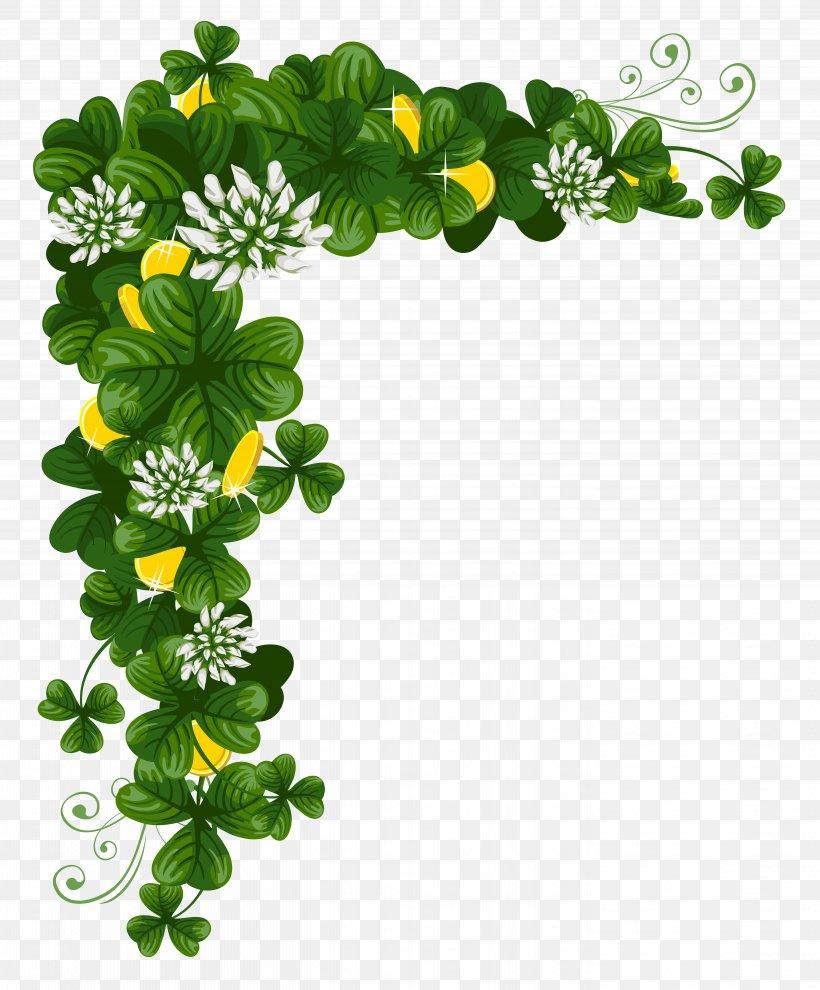 Saint Patrick's Day St. Patrick's Day Shamrocks Clip Art, PNG, 5661x6840px, Saint Patrick S Day, Clover, Flora, Floral Design, Flower Download Free