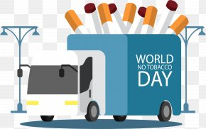 A Truck Cigarette - Cigarette World No Tobacco Day PNG
