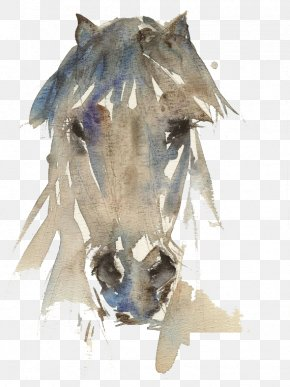 Ink Horse - Horse Watercolor Painting Drawing Art PNG