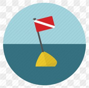 Diving Flag, Scuba Icon - Underwater Diving Scuba Diving Diver Down Flag Diving & Swimming Fins PNG