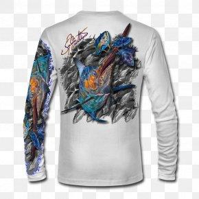 T-shirt - T-shirt Sleeve Atlantic Blue Marlin PNG